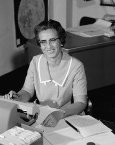 Katherine Johnson, matemática, engenheira aeroespacial e física.
